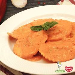 Gransole ortolano con salsa di peperoni