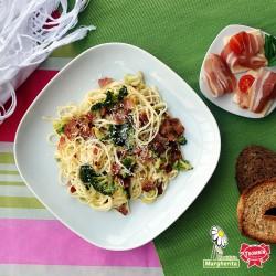 Tagliolini con pancetta e broccoli