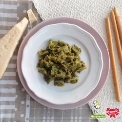 Plin di Magro con Pesto alla Genovese Fresco