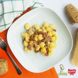 Gnocchi de potiron délicieux avec pancetta et gorgonzola!