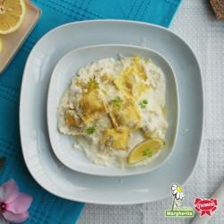 Agnolotti di mare con salsa al limone