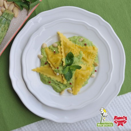 Triangles - Courgettes et Caprino