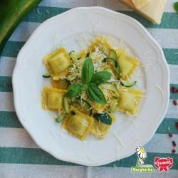 Agnolotti di cinghiale con zucchine