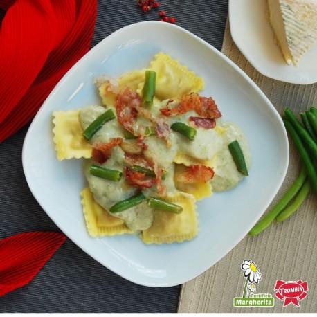 Gransole Bufalotto et scamorza avec sauce aux poires Barolo