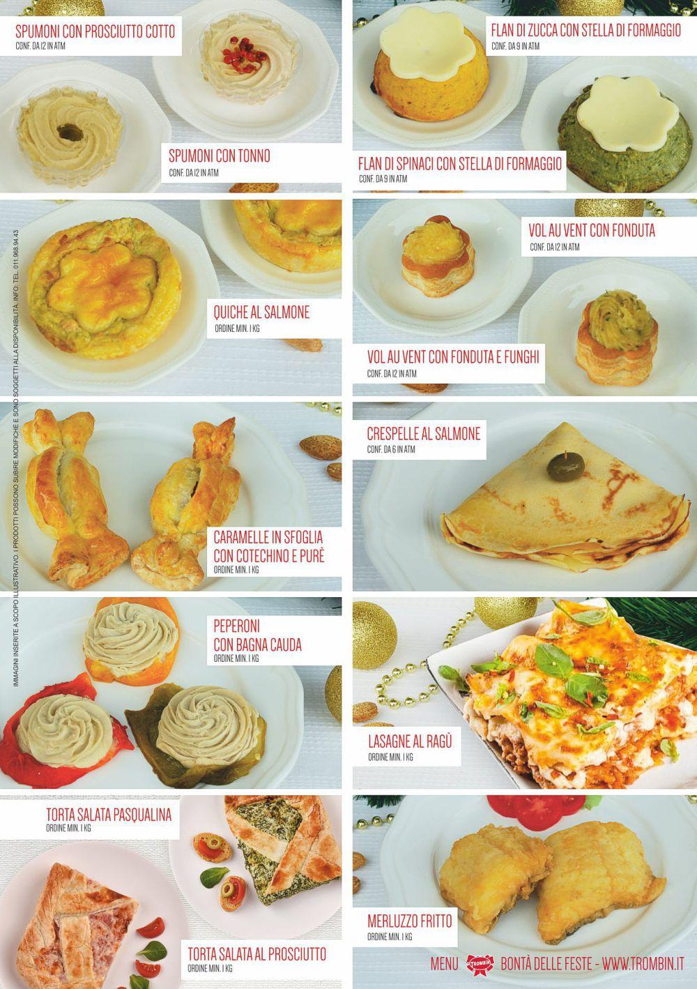 menu feste trombin