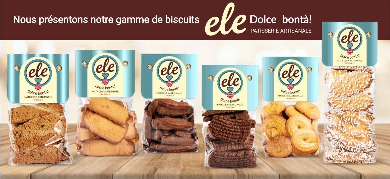 """Nous présentons notre gamme de biscuits """"Biscotti ELE"""""""